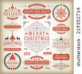 christmas decoration vector... | Shutterstock .eps vector #219352714