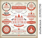 christmas decoration vector... | Shutterstock .eps vector #219352750