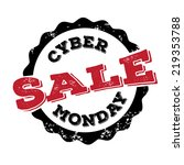 cyber monday sale stamp  | Shutterstock . vector #219353788