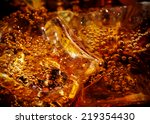 cola with ice close up | Shutterstock . vector #219354430