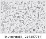teen stuff | Shutterstock .eps vector #219357754
