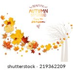 autumn background with tree... | Shutterstock .eps vector #219362209