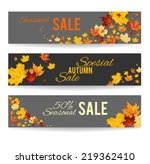 autumn banners set | Shutterstock .eps vector #219362410