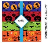 halloween seamless pattern set | Shutterstock .eps vector #219368299