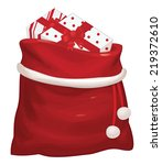 Vector Santa Claus Bag With...