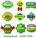 original logo badges and labels | Shutterstock .eps vector #219377290