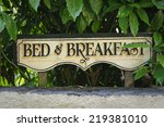 Bed And Breakfast Vintage Sign...