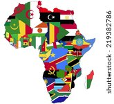 highly detailed africa map with ... | Shutterstock .eps vector #219382786