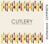 cutlery graphic design   vector ... | Shutterstock .eps vector #219393076