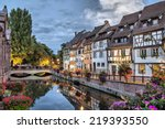 colorful traditional french... | Shutterstock . vector #219393550