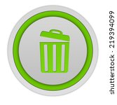 trash can circular icon on... | Shutterstock . vector #219394099