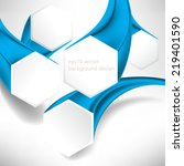 eps10 vector three dimensional... | Shutterstock .eps vector #219401590