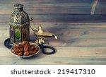 dates  arabian lantern and...   Shutterstock . vector #219417310
