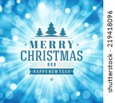 christmas light vector...   Shutterstock .eps vector #219418096