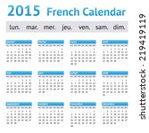 2015 france european calendar....   Shutterstock .eps vector #219419119