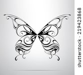 silhouette of butterfly in the... | Shutterstock .eps vector #219423868