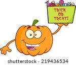 Smiling Pumpkin Cartoon Mascot...