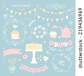 Set Of Birthday Party Elements...