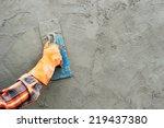 workers were plastering. | Shutterstock . vector #219437380