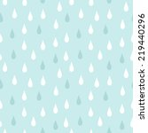 rain. seamless vector pattern | Shutterstock .eps vector #219440296
