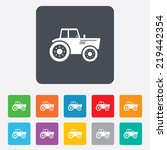 tractor sign icon. agricultural ...   Shutterstock . vector #219442354