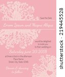 invitation wedding card pink... | Shutterstock .eps vector #219445528
