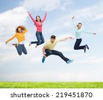 happiness  freedom  friendship  ... | Shutterstock . vector #219451870
