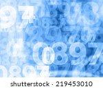 light blue random numbers... | Shutterstock . vector #219453010