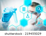 medical research and chemistry...   Shutterstock . vector #219455029
