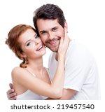 portrait of beautiful smiling... | Shutterstock . vector #219457540