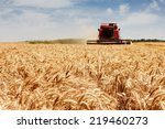 Photo Of Combine Harvester That ...