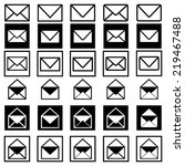 mail icons | Shutterstock .eps vector #219467488