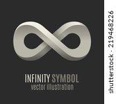 infinity symbol. conceptual... | Shutterstock .eps vector #219468226