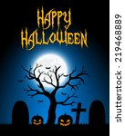 halloween card. vector... | Shutterstock . vector #219468889