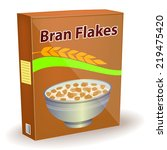 a packet of bran flakes  ... | Shutterstock .eps vector #219475420