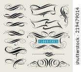 set of decorative design... | Shutterstock .eps vector #219479014