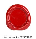 red wax seal isolated on white... | Shutterstock . vector #219479890