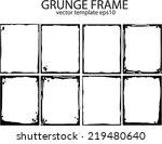 grunge frame set. vector... | Shutterstock .eps vector #219480640