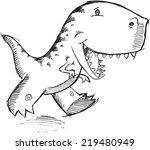 doodle dinosaur t rex vector...   Shutterstock .eps vector #219480949
