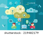 cloud computing internet... | Shutterstock .eps vector #219482179