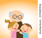 family. grandfather with...   Shutterstock .eps vector #219485926