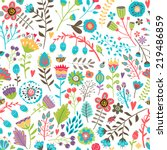 cute seamless pattern with... | Shutterstock .eps vector #219486859