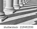 pillars in a row | Shutterstock . vector #219492550