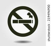 no smoking icon. stop smoking...