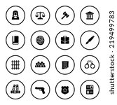 law icon set | Shutterstock .eps vector #219499783