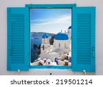 Window With View Of Caldera An...
