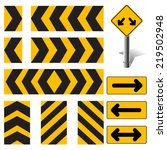 vector road sign set  | Shutterstock .eps vector #219502948