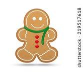 Gingerbread Man Cookie Vector...