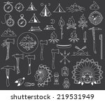 survival and camping vector... | Shutterstock .eps vector #219531949