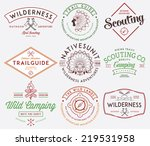 scouting vector badges and... | Shutterstock .eps vector #219531958